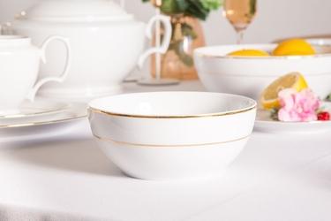 Salaterka okrągła porcelana mariapaula złota linia 17 cm