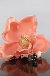 Naszyjnik kryształowa czterolistna koniczynka, śliwkowa | biżuteria kryształkowa