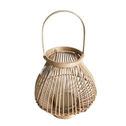 Lampion  latarenka rattanowa altom design 26 x 27 cm