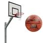 Zestaw kosz do koszykówki sure shot euro court 661.4 cynkowany z certyfikatem wysięgnik + piłka do koszykówki spalding grip control