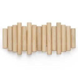 Drewniany wieszak z zamykanymi uchwytami picket