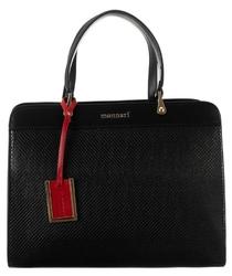 Klasyczny kuferek damski monnari czarny 7750 - czarny