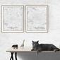 Paris mapa czarno biała - plakat wymiar do wyboru: 40x60 cm