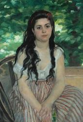 Reprodukcja en été - la bohémienne, renoir auguste