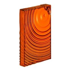 Guzzini - on the go - butelka na wodę ripples,pomarańczowa - pomarańczowy