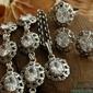 Marlin - srebrny komplet  z kryształem
