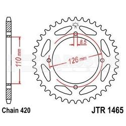 Zębatka tylna stalowa jt 1465-47, 47z, rozmiar 420 2301059 kawasaki kx 65
