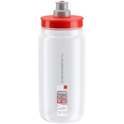 Bidon elite fly clear 2018 czerwony 550 ml