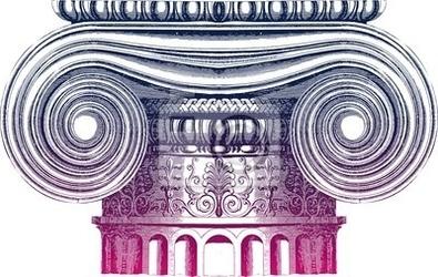 Naklejka classic column