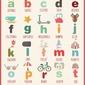 Alfabet - plakat wymiar do wyboru: 42x59,4 cm