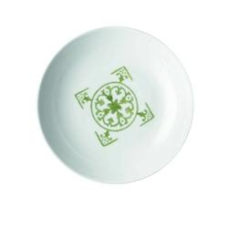 Guzzini - tiffany - talerz głęboki le maioliche, zielony - zielony