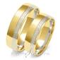 Obrączki ślubne dwukolorowe z imionami złoty skorpion – wzór au-a222