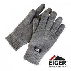 Rękawiczki ocieplane eiger knitted glove whit 3m thinsulate lining grey roz. m