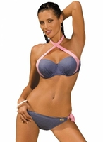 Kostium kąpielowy marko holly m-346 blueberry-rosa confetto