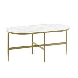 Metalowy stolik eli biały