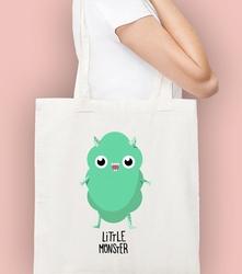 Green little monster torba na zakupy naturalna universal