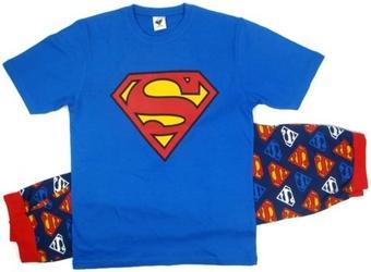 Męska piżama superman superhero logo s