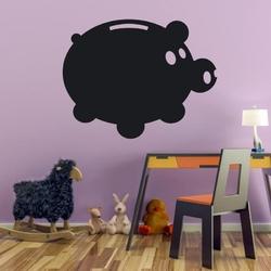 Naklejka tablicowa świnka skarbonka 2tk15