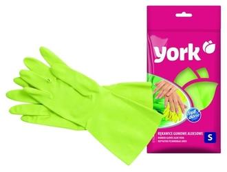 York, rękawice gumowe aloesowe, rozmiar s