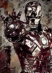 Legends of bedlam - iron man, marvel - plakat wymiar do wyboru: 30x40 cm