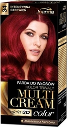 Joanna multi cream color, farba do włosów, 34 intensywna czerwień