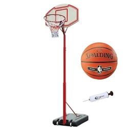 Zestaw kosz do koszykówki master regulowany + piłka spalding + pompka