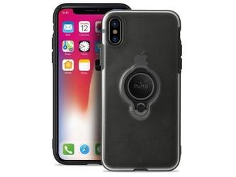 Etui puro magnet ring cover apple iphone xxs czarne - czarny