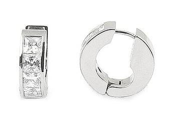 Kolczyki magnetyczne 1808-2 stal szlachetna z kryształami swarovslkiego