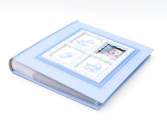 Album na zdjęcia 10x15 pamiątka chrzest z grawerem - Niebieski
