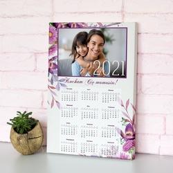 Obraz na płótnie kalendarz ze zdjęciem 50x70 cm