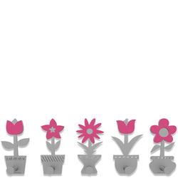 Wieszak ścienny Little Flowers CalleaDesign fuksja 13-003-72