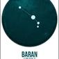 Znak zodiaku, baran - plakat wymiar do wyboru: 21x29,7 cm