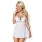 Seksowna biała koszulka - obsessive 810-bab-2 babydoll  thong sm