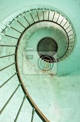 Fototapeta latarni spirala schodów