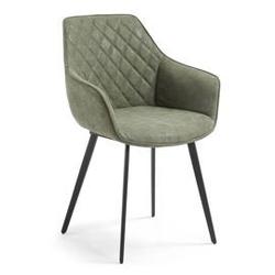Krzesło aminy z podłokietnikami zielone