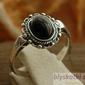 Kerma - srebrny pierścionek z onyksem