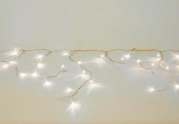 Lampki dekoracyjne ogrodowe 200 led, ciepłe białe, kurtyna