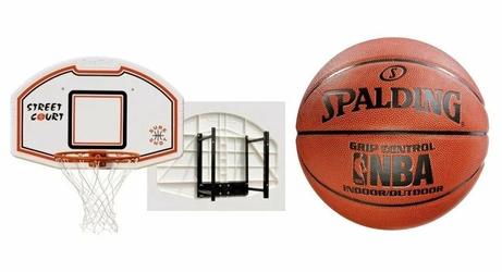 Zestaw Sure Shot 508 Bronx uchwyt + piłka Spalding