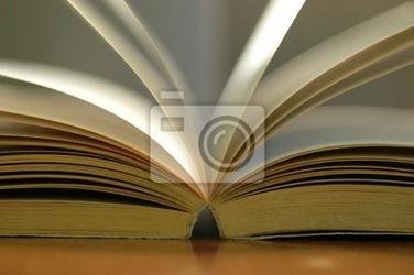 Obraz zbliżenie otwarta książka