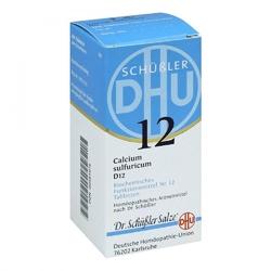 Biochemie dhu 12 calcium sulfur.d 12 tabl.