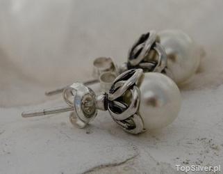 Ofelia - srebrne kolczyki z perłami