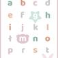 Słodki alfabet różowy - plakat wymiar do wyboru: 60x80 cm