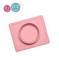 Silikonowa miseczka z podkładką ezpz 2w1 mini bowl - pastelowa różowa