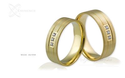 Obrączki ślubne - wzór au-556