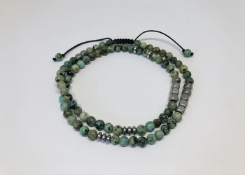 Bransoletka african turquoise double s