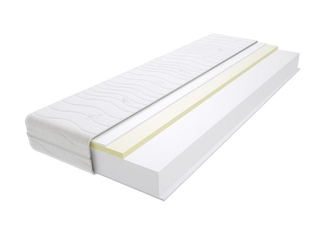 Materac piankowy maroko max plus 105x220 cm miękki  średnio twardy 2x visco memory