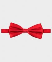 Czerwona elegancka muszka jedwabna