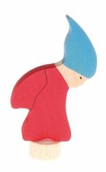 Drewniana figurka, Krasnalek w Niebieskiej Czapie, Grimms