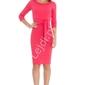 Koralowa sukienka w stylu casual, goddess 583