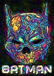 Psychoskulls, batman, dc comics - plakat wymiar do wyboru: 70x100 cm